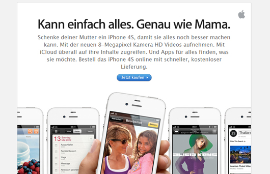Apple Muttertag